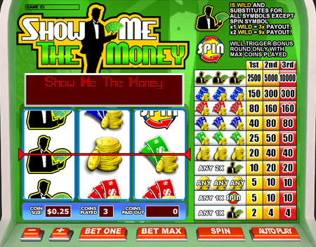 bingo cafe show me the money 3 reel online slots game
