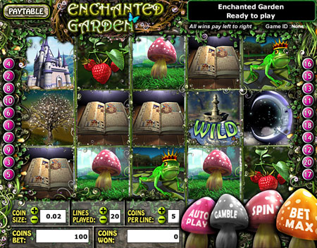 bingo cafe enchanted garden 5 reel online slots game