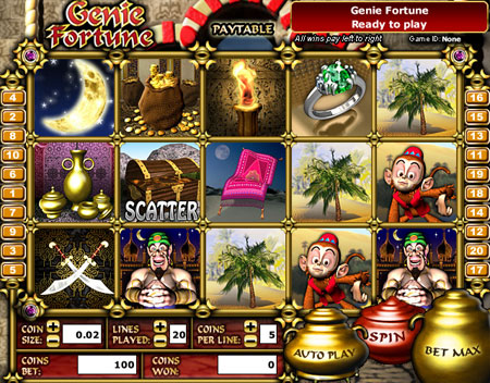 bingo cafe genie fortune 5 reel online slots game