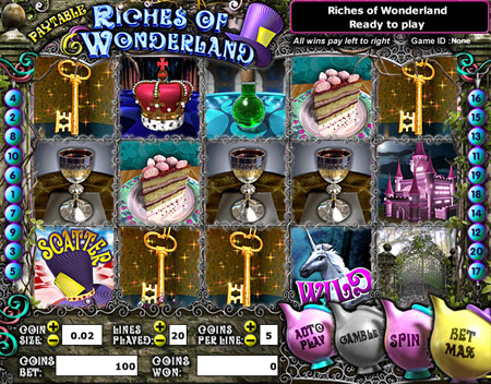 bingo cafe riches of wonderland 5 reel online slots game