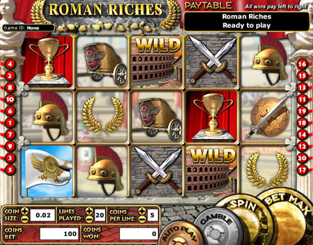 bingo cafe roman riches 5 reel online slots game